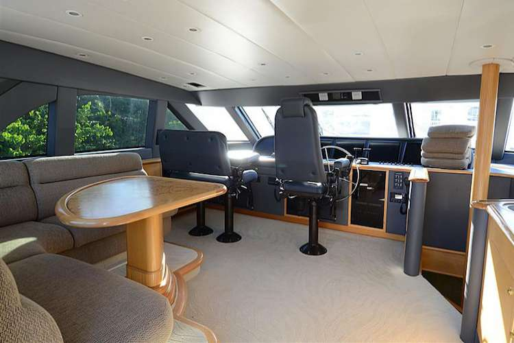 Superyacht bridge with interior design from Yacht Decor