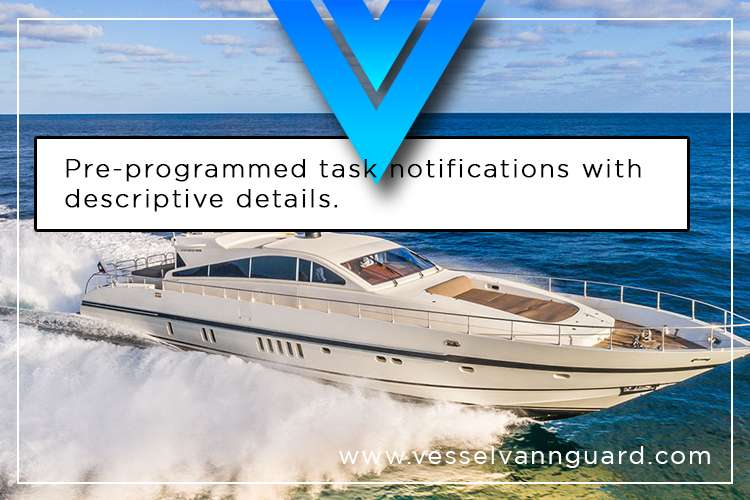 Image of a yacht cruising and a text: