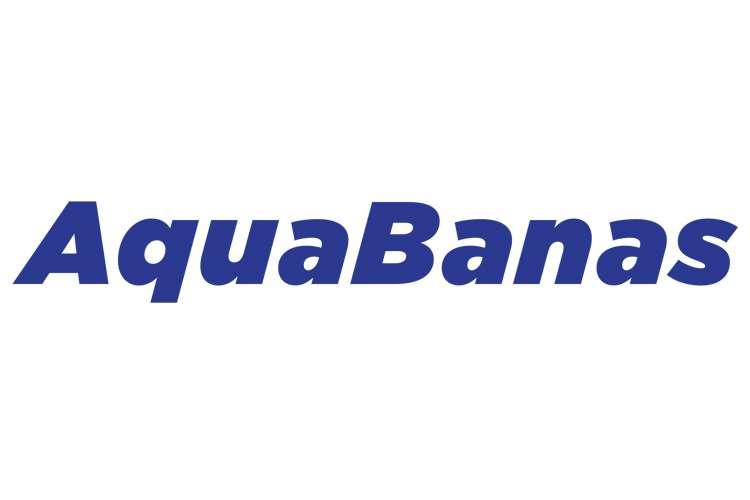 AquaBanas logo on a white background