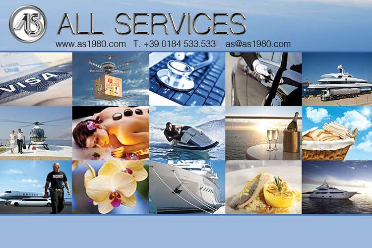All services logo, contact details and collage of images of services they offer.