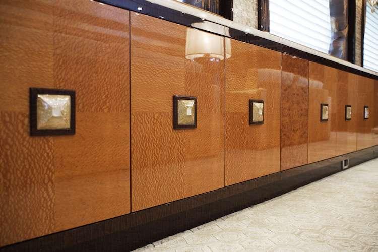 Bespoke wooden cabinets from Karen Lynn Interior Design.