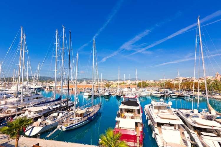 Image of a port in Palma de Mallorca.