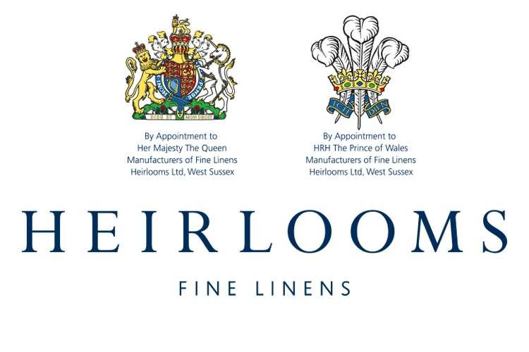Heirlooms Ltd - FIne Linens logo on a white background.