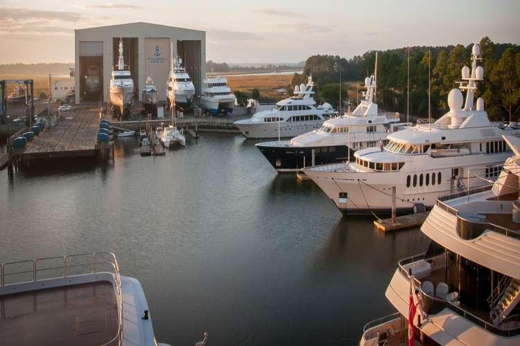 Aerial image of Thunderbolt Marine shipyard