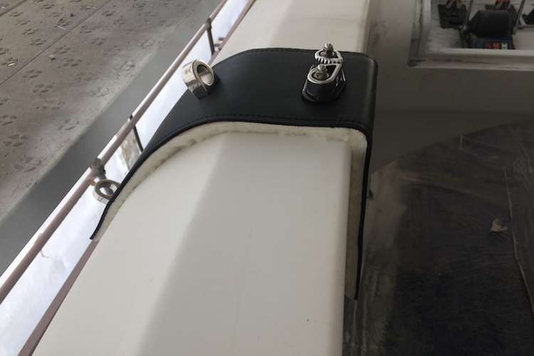 M2M Fender hooks on a superyacht.