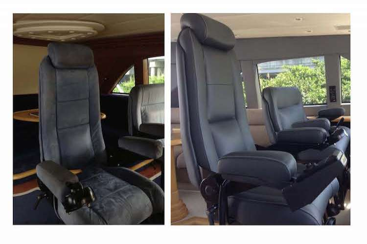 Bridge leather chairs before and after the interior change