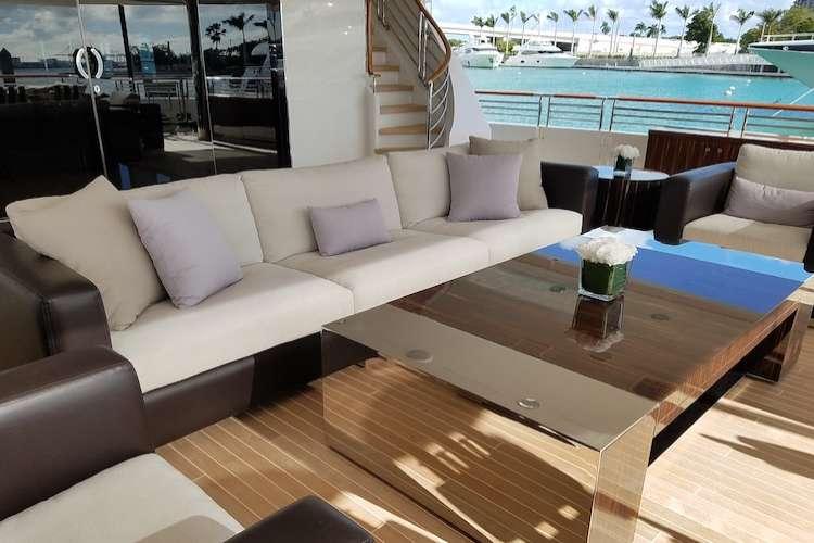 Carpe Diem superyacht deck after furnishing by Eclipse