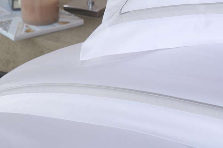 White bed linen from Heirlooms
