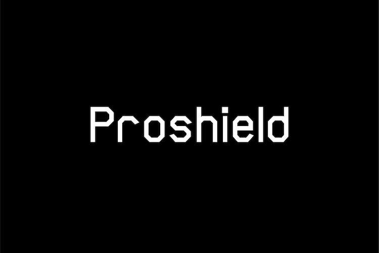 Proshield logo on a black background