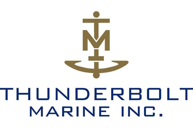 Thunderbolt Marine Inc. logo on a white background