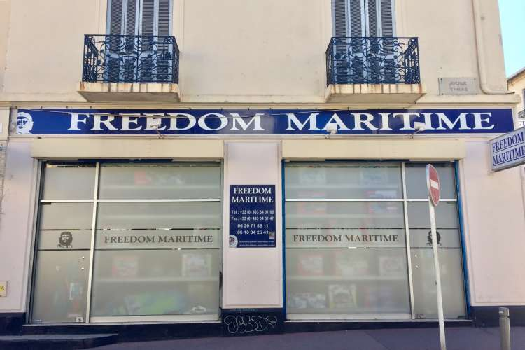 Freedom Maritime store front.