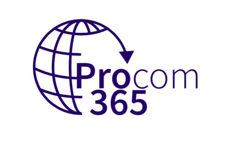 Procom365 logo on a white background.