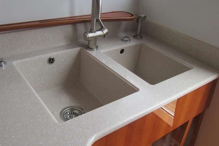 Bespoke wooden kitchen sink structure made by H.Y.S.