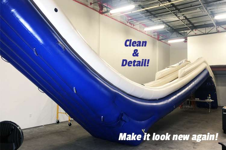 Image of an Inflatable slide with text: